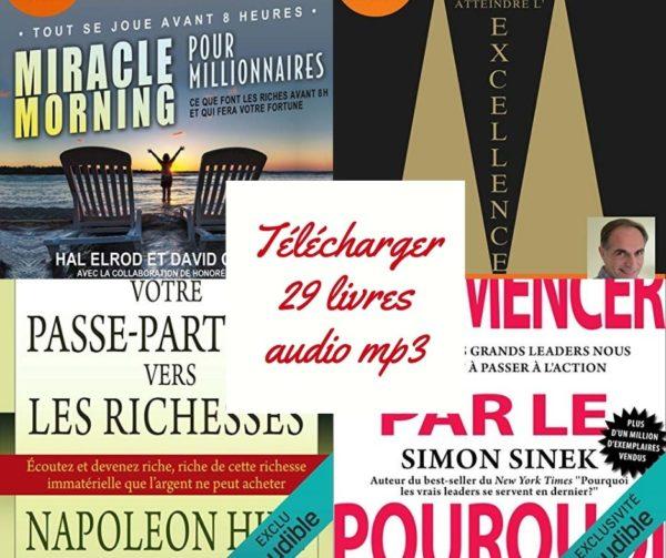 Téléchargez 29 livres audio et réalisez vos rêves